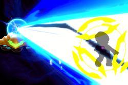 Vista previa de Láser Zero en la sección de Técnicas de Super Smash Bros. Ultimate