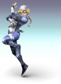 Art oficial de Sheik en Super Smash Bros. Brawl