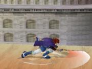 Ataque Smash hacia abajo de Roy (2) SSBM.png