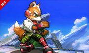 Fox en el Campo de batalla SSB4 (3DS).jpg
