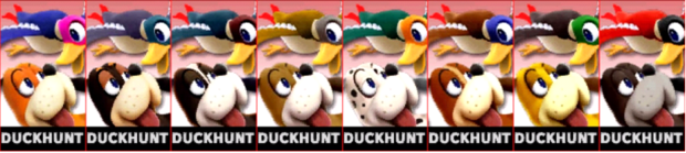 Paleta de colores de Duck Hunt (JAP) SSB4 (3DS).png