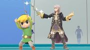 Daraen y Toon Link en la Sala de Wii Fit SSBU.jpg