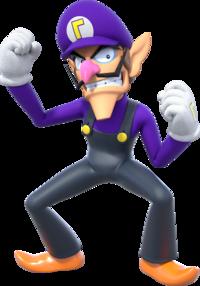 Art oficial de Waluigi en Super Mario Party