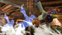 Falco realizando el movimiento en Super Smash Bros. para Wii U.