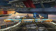 Megaman, Fox y Captain Falcon en Port Town Aero Dive SSB4 (Wii U).jpg