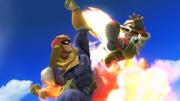 Captain Falcon atacando a Fox SSB4 (Wii U).png