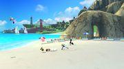 Olimar, Kirby, Samus Zero y Aldeano en las Islas Wuhu SSB4 (Wii U).jpg