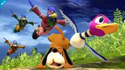Falcos saltando sobre Duck Hunt SSB4 (Wii U).jpg
