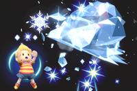 Vista previa de Hielo PSI en la sección de Técnicas de Super Smash Bros. Ultimate