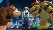 Donkey Kong, Luigi y Bowser en el Castillo de Willy SSB4 (Wii U).jpg