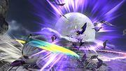 Bayonetta realizando su Vampiro interior a un ataque de Meta Knight SSB4 (Wii U).jpg