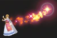 Vista previa de Fuego de Din en la sección de Técnicas de Super Smash Bros. Ultimate