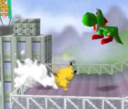 Lanzamiento delantero de Pikachu (3) SSB.png
