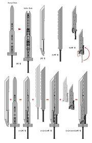 Todas las espadas y filos que forman las espadas de fusión FFVII Advent Children.jpg