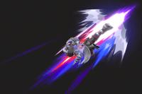 Vista previa de Wolf de fuego en la sección de Técnicas de Super Smash Bros. Ultimate