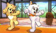 Dos Karatekas Mii hombre y mujer en Casa rural SSB4 (3DS).jpg
