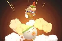 Vista previa de Salto explosivo en la sección de Técnicas de Super Smash Bros. Ultimate