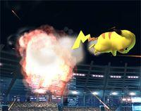 Pikachu usando Cabezazo en Super Smash Bros. Brawl