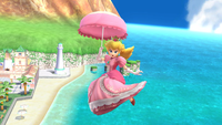 Peach usando su sombrilla en Super Smash Bros. for Wii U