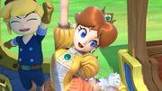 Daisy y Toon Link conductor en el Tren de los Dioses SSBU.jpg