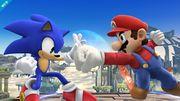Sonic y Mario en el Campo de batalla SSB4 (Wii U).jpg