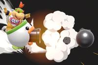 Vista previa de Cañón koopayaso Jr./Cañón Minihelikoopa en la sección de Técnicas de Super Smash Bros. Ultimate