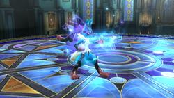 Lucario usando su Smash Final en Super Smash Bros. para Wii U