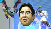 Pit y Meta Knight junto al Dr. Kawashima SSBWiiU.jpg