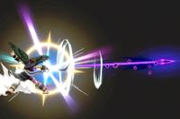 Vista previa de Arco de plata en la sección de Técnicas de Super Smash Bros. Ultimate