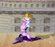 Lanzamiento hacia abajo de Zelda (2) SSBM.png