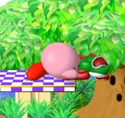 Lanzamiento trasero de Kirby (1) SSBM.png