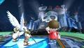 Pit y el Aldeano en el Castillo del Dr. Willy, mirando hacia donde está el Yellow Devil SSB4 (Wii U).jpg