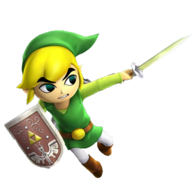 "Art oficial de ""Toon Link"" en Hyrule Warriors: Legends"