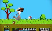 Mario, Donkey Kong y el Dúo Duck Hunt en el escenario Duck Hunt SSB4 (Wii U) (2).jpg