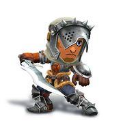 Artwork del Espadachín Mii con el casco y malla de cazador.jpg
