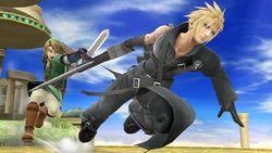 Cloud y Link en el Templo de Palutena SSB4 (Wii U).jpg