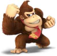 Art oficial de Donkey Kong en Super Smash Bros. Ultimate