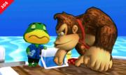 Donkey Kong junto al Capitán en la Isla Tórtimer SSB4 (3DS).png
