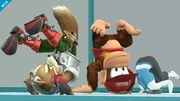 Fox y Donkey Kong en la Zona de entrenamiento SSB4 (Wii U).jpg