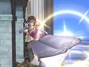 Ataque aéreo delantero Zelda SSBB.jpg