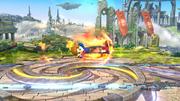 Karateka Mii usando Patada ardiente (2) SSB4 (Wii U).png