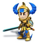 Artwork de Espadachin Mii con casco y armadura de Gilgamesh.jpg
