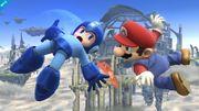 Primera imagen de Mario y Mega Man en SSB4 (Wii U).jpeg