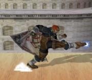 Ataque Smash hacia abajo de Ganondorf (1) SSBM.png