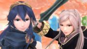 Lucina y Daraen mujer en el Reino Champiñón U SSB4 (Wii U).png