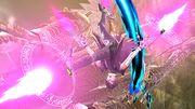 Bayonetta realizando un ataque aereo en la Torre del reloj de Umbra.jpg