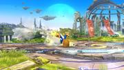 Karateka Mii usando Patada ardiente (1) SSB4 (Wii U).png
