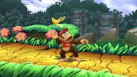 Diddy Kong lanzando una Monda de plátano en Super Smash Bros. para Wii U.