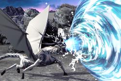 Vista previa de Bramido torrencial en la sección de Técnicas de Super Smash Bros. Ultimate