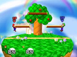 Mario y Luigi en el escenario